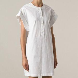 Theory Cuffed Shift Cotton Blend Dress